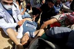 استشهاد صحفي فلسطيني (أرشيفية)