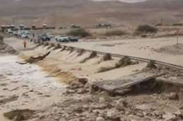 فيضانات بوادي عربة