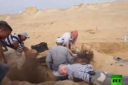 اكتشاف في مقبرة ابو البنات