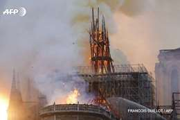حريق في كاتدرائية نوتردام بباريس