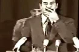 فيديو نادر لصدام: اللي يسمع اسمه يردد الشهادة هيلحق ربه