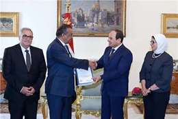 الرئيس عبد الفتاح السيسي و مدير عام منظمة الصحة العالمية