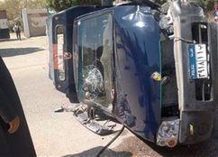انقلاب سيارة شرطة ومصرع وإصابة 4 أمناء بأسيوط