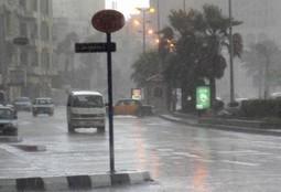 امطار متوسطة بالاسكندرية وعواصف ترابية على الوادى الجديد