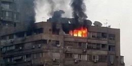 7 حالات اختناق في حريق شقة بطنطا