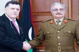 «حفتر» و«السراج» يتفقان على تشكيل جيش موحد بليبيا