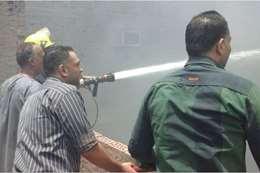 اطفاء حريق سوق امبابة
