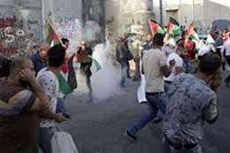 اشتباكات بين الفلسطينيين وجيش الاحتلال الإسرائيلي