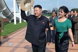 كيم وزوجته