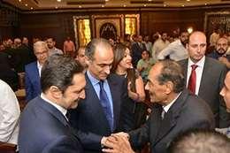 المشير طنطاوى مع نجلى مبارك
