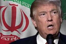 ترامب ومن خلفه العلم الإيراني