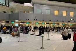 مصريين في مطار الكويت