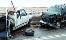 امن بنى سويف: مصرع واصابة ٢٢ فى حادث تصادم ٦ سيارات