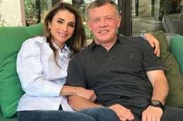 العاهل الأردني و زوجته