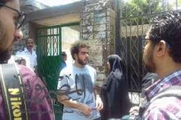 خروج الطلاب من مدرسة جمال عبد الناصر بالدقي