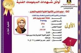 نتيجة الطالبة غادة أحمد وزيري