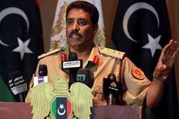 المتحدث باسم الجيش الليبي العقيد أحمد المسماري
