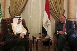 سامح شكري ووزير الخارجية السعودية عادل الجبير