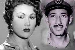 المشير عبد الحكيم عامر وزوجته الفنانة برلنتي عيد الحميد