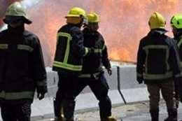 حريق داخل مصنع