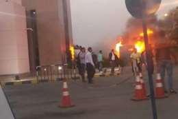حريق بمدينة الإنتاج
