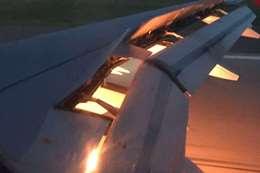 حريق في محرك طائرة المنتخب السعودي