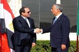 الرئيس البرتغالي مع الرئيس السيسي