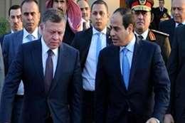 الرئيس السيسي وملك الأردن