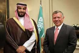 ولي العهد السعودي وعاهل الأردن