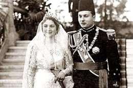 زفاف الملك فاروق والملكة ناريمان