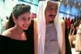 حصة مع أبيها الملك سلمان