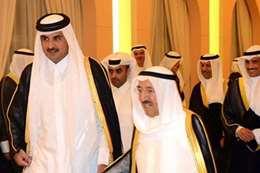 الشيخ صباح  و أمير قطر