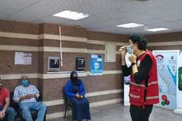 """حملات توعية للهلال الأحمر والتضامن عن """" كوفيد 19 """""""