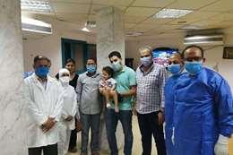 شفاء أصغر طفلة مصابة بكورونا فى البحر الأحمر
