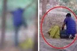 فيديو مروع.. ضرب وركل لزوجته حتى الموت أمام طفلهما