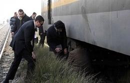مصرع عامل تحت عجلات القطار بسوهاج