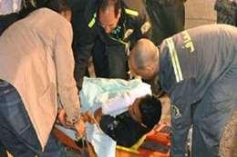 إلقاء مواد حارقة علي ضابط شرطة  بور سعيد