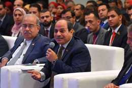 الرئيس عبدالفتاح السيسي في مؤتمر الشباب