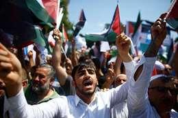 مظاهرات تضامنا مع المسجد الاقصى