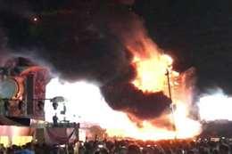 حريق بمسرح الموسيقى
