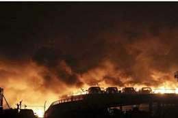 انفجار خط غاز فى الصين