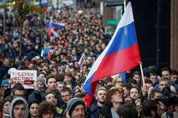 مظاهرات في روسيا