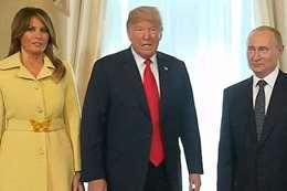 ميلانيا عقب مصافحة  بوتين