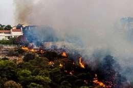 حريق هائل بالقدس