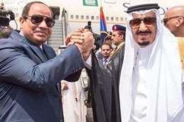 عاهل السعودية  والرئيس السيسي