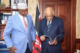 عبد العال مع رئيس أغلبية البرلمان الكيني