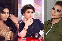 الفنانة الإماراتية أحلام والمطربة السورية أصالة ولإعلامية الكويتية فجر السعيد