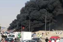 حريق طريق الإسماعيلية
