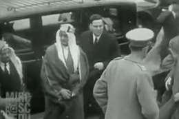 فيديو نادر للملك فيصل قبل 90 عاما ببريطانيا