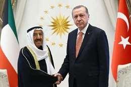 أمير الكويت و رئيس تركيا